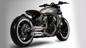 2017 indian scout custom bobber from tank machine motorcyclist