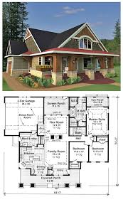 Stunning 2 craftsman bungalow house floor plans cottage traditional plan 42618