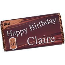 personalised happy birthday 114g galaxy milk chocolate bar 16th 18th 21st 30th 40th 50th 60th