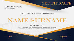 Blue And Orange Powerpoint Template Blue Yellow Gradient Certificate Powerpoint Template