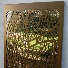 leaf pattern outdoor garden screen in metallic gold saveenlarge garden wall art uk  on outdoor garden wall art uk with garden wall art uk elitflat