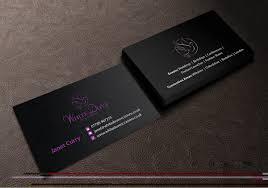 Elegant Upmarket Wedding Business Card Design For Johnson