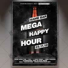 Happy Hour Flyer Mega Happy Hour Flyer Psd Template