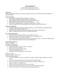 Resume Nanny Resume Sample Templates Template Babysitter Definition