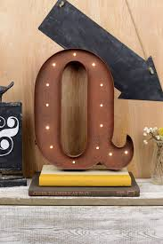 Marquee Letters Q 12in Battery Operated 17 Warm White LED Lights