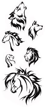 Simple Tribal Animal Designs Thehellcow Tattoos Pinterest