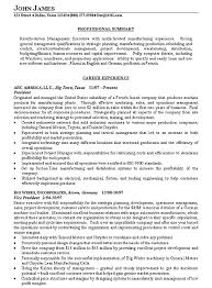 Executive Summary Resume Example Samples In Examples Job – Creer.pro