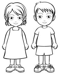 Boy Girl Coloring Page Boys And