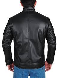 Leather Jacket With Design On Back Wwe Dean Ambrose Striped Design Black Leather Jacket
