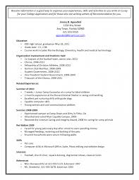 Resume For High School Senior How To Write College Applications