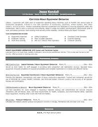 Forklift Operator Resume Examples Crane Operator Resume Certified