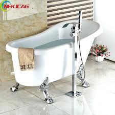 clawfoot bathtub faucet chrome polish free standing bath tub filler waterfall with mixer tap faucets shower clawfoot bathtub faucet choose parts