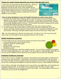 use the card to pay for eligible s and services be sure to keep all 6 flex benefit