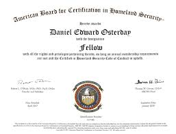 Homeland Security Fellow Fabchs Daniel Osterday