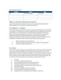 Sop Templates Gorgeous 44 Admin Sop Template Hr Standard Operating Procedure Marketing