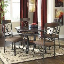 signature design ashley glambrey round dining table and chair room sets s color set item number with chairs kitchen tables furniture glass wood black