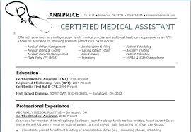 Resume Samples Medical Assistant Entry Level Resume Objectives