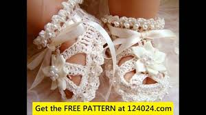 Crochet Baby Sandals Pattern Delectable Crochet Baby Sandals Tutorial YouTube