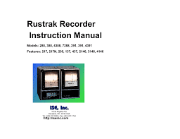Rustrak Chart Recorder Rustrak 288 Recorder Manual