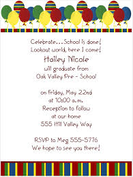 sample graduation invitations preschool graduation invitations badbrya com