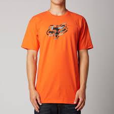 atomic orange fox racing mens foe t shirt 2016