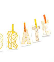 Celebrate Banner Celebrate Letterpress Diy Banner Kit Thimblepress