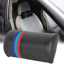1pc car seat neck cushion m power color carbon fiber pillow headrest for bmw m3