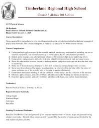 college syllabus template ccp phy sci trhs syllabus template