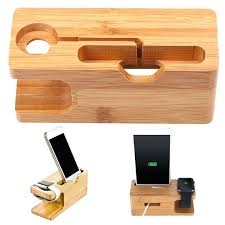 wooden phone charging station mobile phone charger holder wooden stand charging dock station bracket cradle for wooden phone charging station