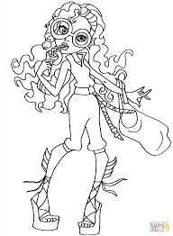 Small Picture Monster High Lagoona Blue coloring page Free Printable Coloring