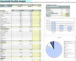 Household Budget Spreadsheet Excel Home Personal Monthly