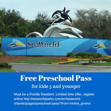 free preschool pass to seaworld and busch gardens for kids aged 5 and under