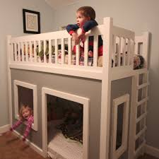 Building A Loft Bed Diy Playhouse Loft Or Bunk Bedso Cutewish Me And My