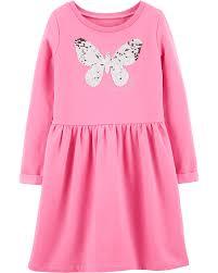 Flip Sequin Butterfly Fleece Dress Carters Com