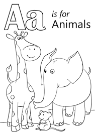 Small Picture Letter A is for Animals coloring page Free Printable Coloring Pages