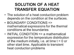 solution of a heat transfer equation