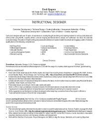 Instructional Designer Resume Gorgeous Instructional Designer Resume Simple Resume Letter Resume Template