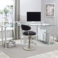 modern glass desk