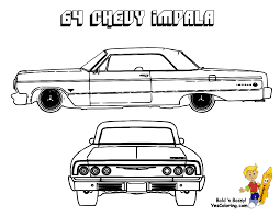 1964 Chevrolet Impala Car Coloring At YesColoring Throughout ...
