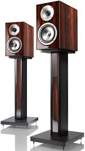 speakers and stands. acoustic energy reference 1 speakers (pair) ebony on stands and