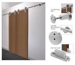 crl brushed stainless laa sliding door hardware adaptor kit for wood doors