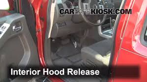 how to add refrigerant to a 2005 2012 nissan pathfinder 2010 2 open the hood how to pop the hood and prop it open