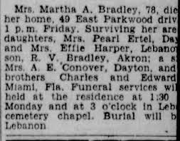 Obituary for Martha A. Bradley (Aged 78) - Newspapers.com