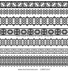 Border Patterns Cool Border Decoration Elements Patterns Black White Stock Vector