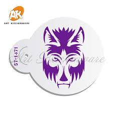 Stencil Spraypaint A Wolf Cake Art Stencils Template Baking Stencil Spray Paint Moulds