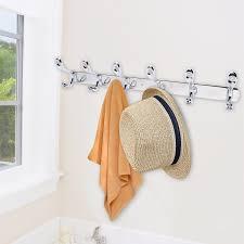 12 hooks stainless steel coat hat clothes door