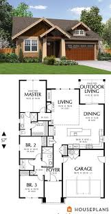 Craftsman style house plan 3 beds 2 00 baths 1529 sq ft plan 48 598