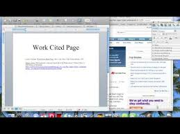 How To Make Work Cited Page How To Make A Work Cited Page Youtube