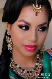 fishl braid and makeup for a sangeet garba gokalove boston