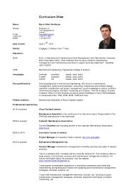 Curriculum Vitae BEI (Cv)